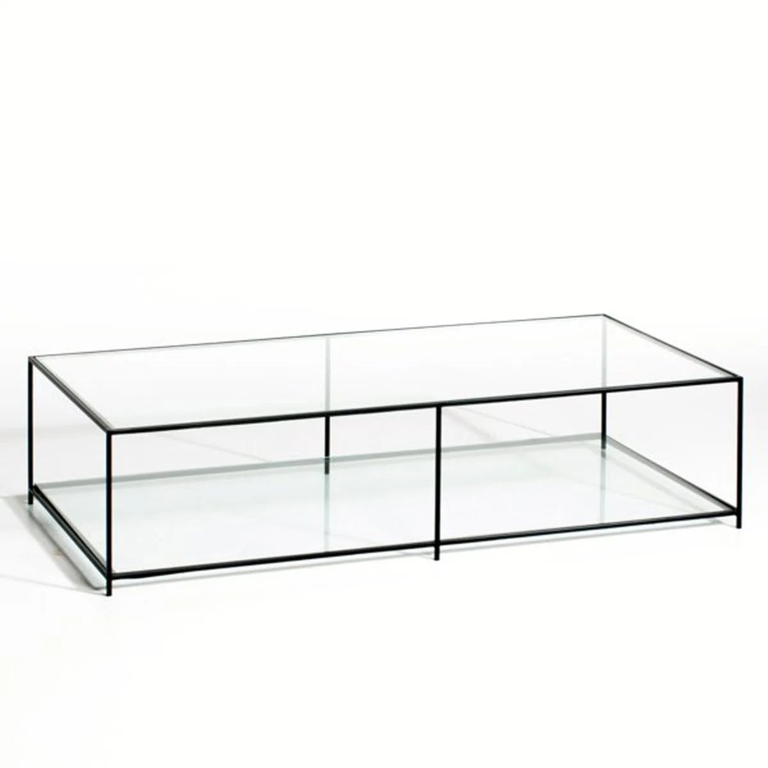table basse rectangulaire verre trempe sybil