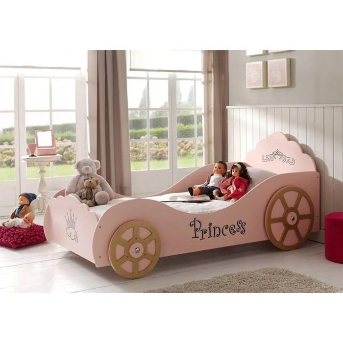lit enfant voiture avec sommier princesse