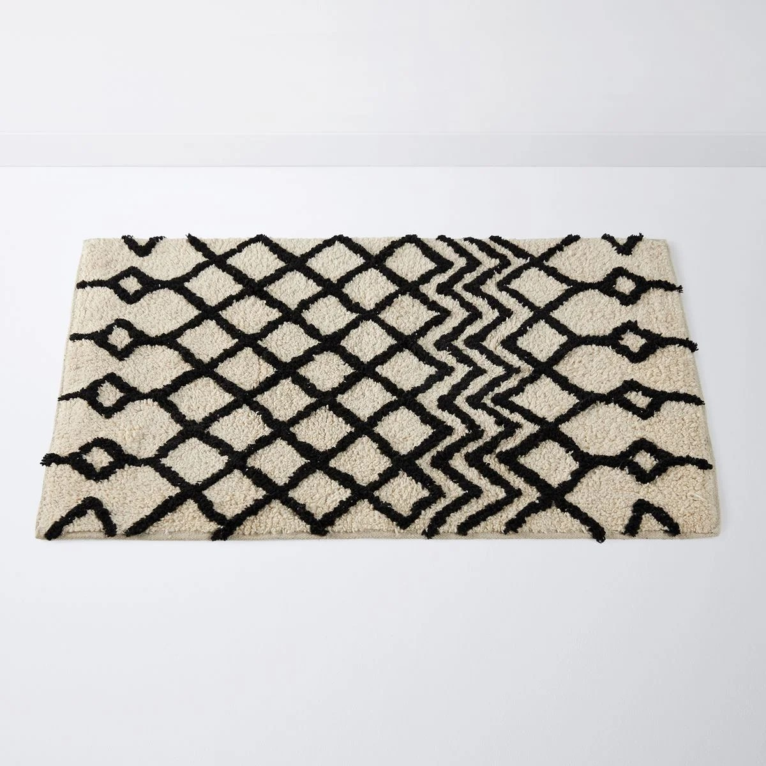 tapis de bain style berbere tufte main cali