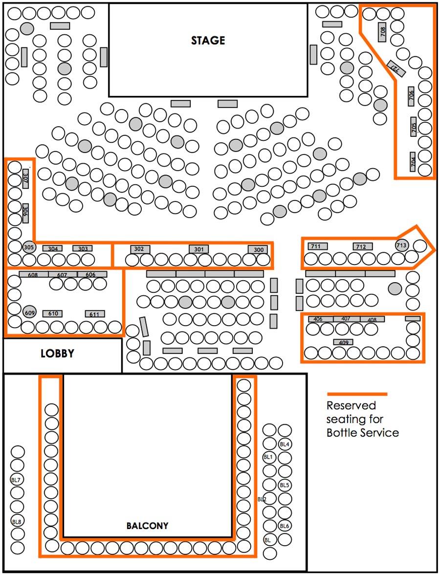 Laugh Factory Las Vegas Seating Chart
