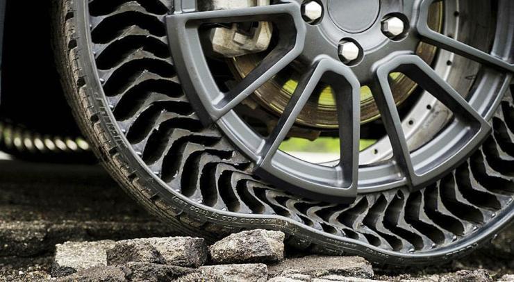 Así trabaja el neumático sin aire presentado por Michelin. / Mundo Maipú