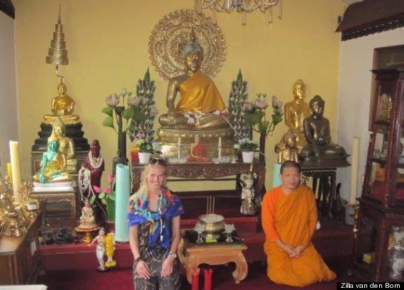 Su supuesta visita al templo