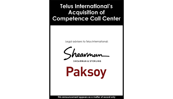 Telus International's Acquisition of Competence Call Center