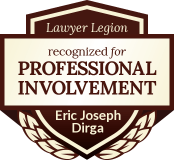 Eric Joseph Dirga has earned recognition for professional involvement by Lawyer Legion