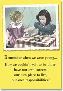 Birthday Card Funny Remember When We Were Young EMP