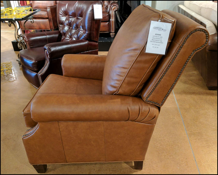 american leather chairs and recliners swivel chair homesense made best rated adams recliner cl720 bronx russet old gold spotted nails