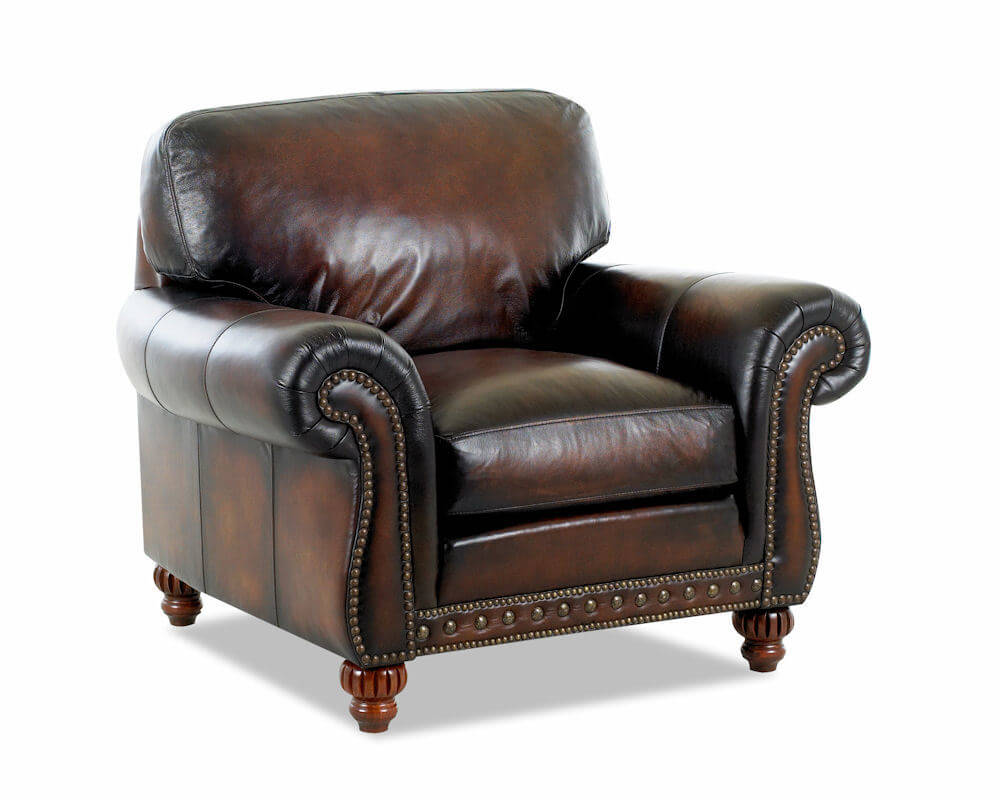 American Made Best Leather Club Chair Rodgers 7002