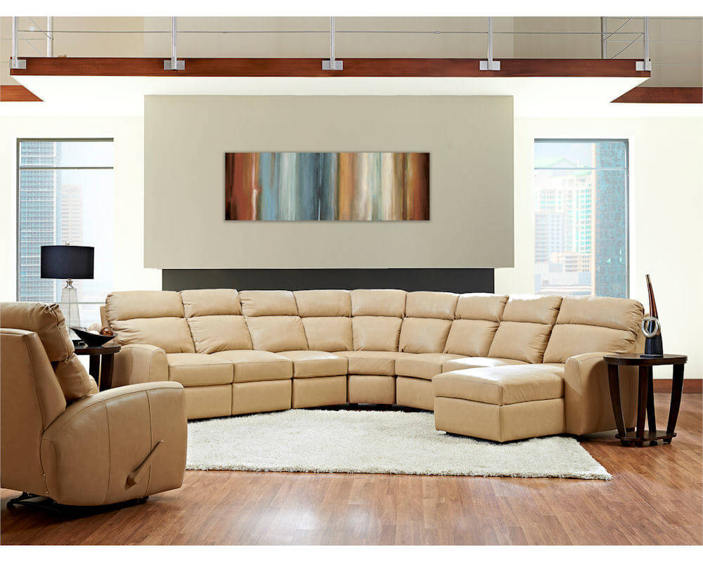 power reclining sofa made in usa princess bean bag chair american best leather sectional ventana clp114