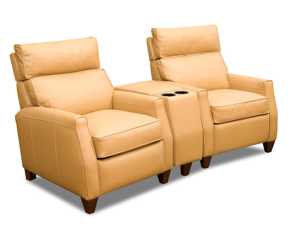 Reclining Chair Movie Theater American Made Home Theater Seating Leather Recliners Cl717