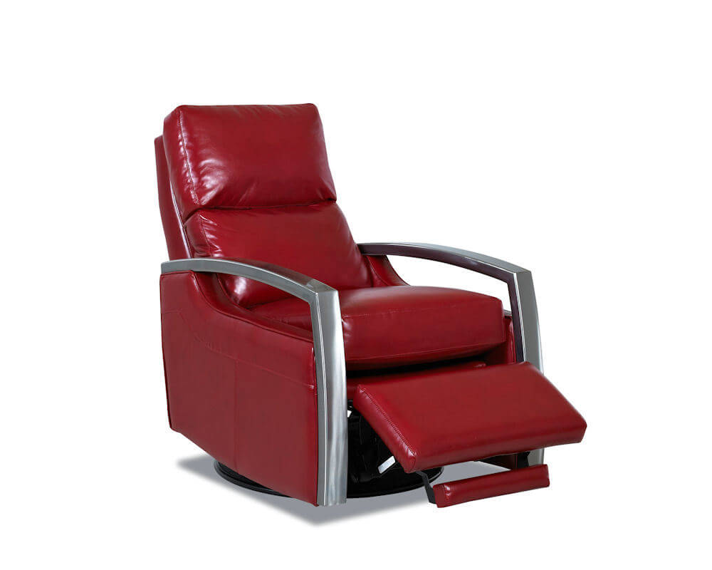 American Made Leather Swivel Recliner CL238 USA Made