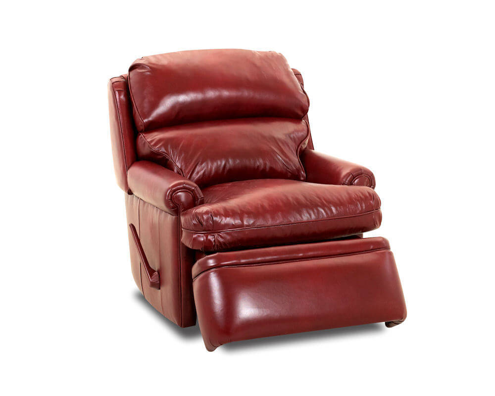 Red Leather Recliiner American Made Classic Club Recliner