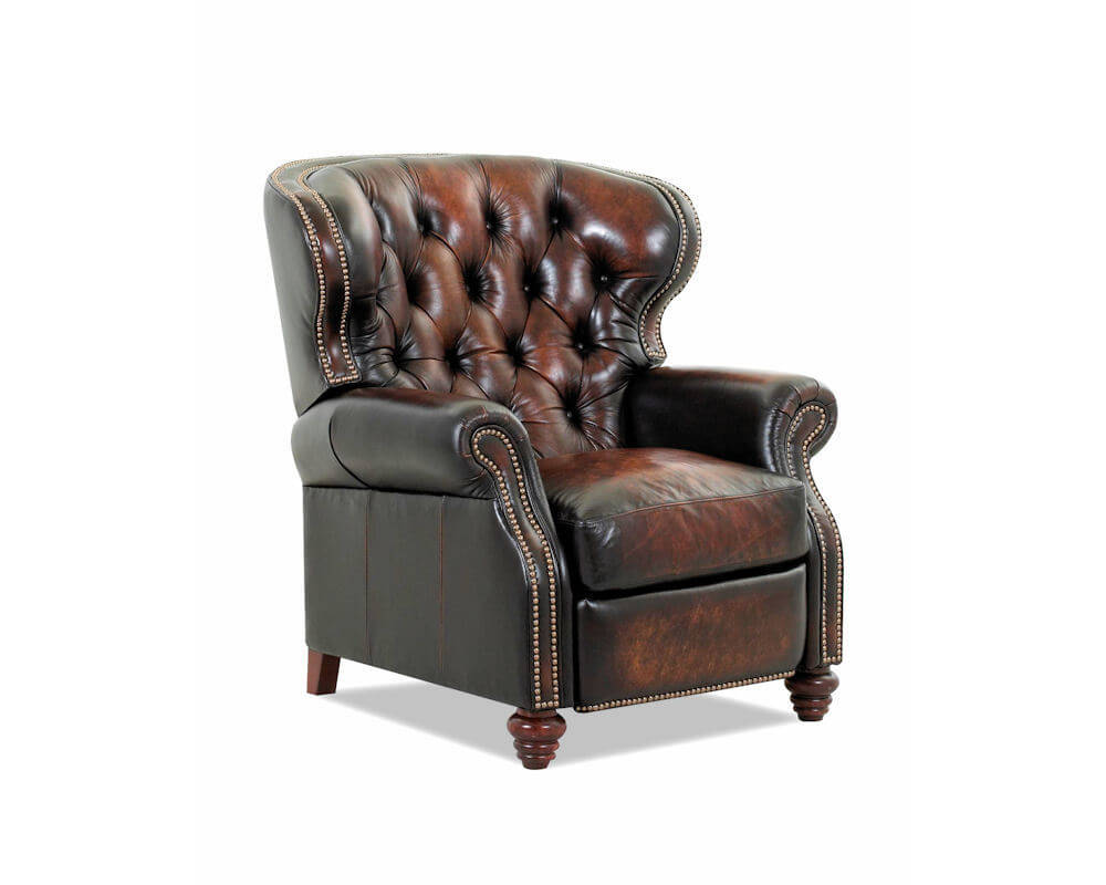 traditional leather wingback chair summer high booster seat recliner | home decor
