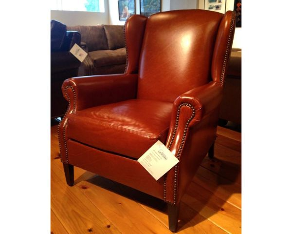 Classic Leather Cabernet Wing Chair 206