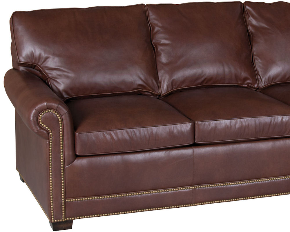 usa made sleeper sofa doc xl bunk bed for sale classic leather larsen 58 |