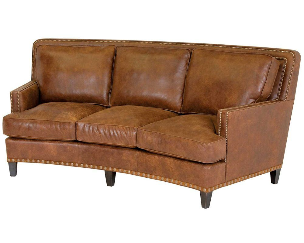classic leather palermo curved sofa