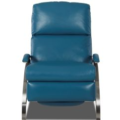 Blue Leather Office Chair Chairs For Elderly Comfort Design Z Recliner Clp303 - Leatherfurniture-usa.com