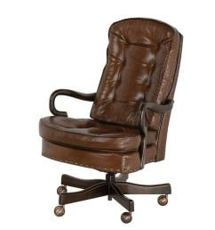 goose neck tufted swivel tilt office chair by classic leather 706 st [ 1000 x 800 Pixel ]