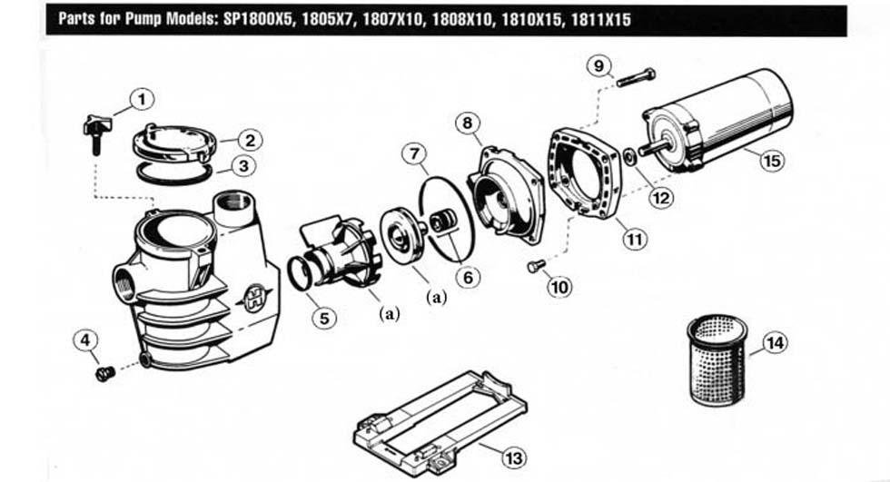 Hayward MaxFlo SP1800X Max-Rated Pump Parts