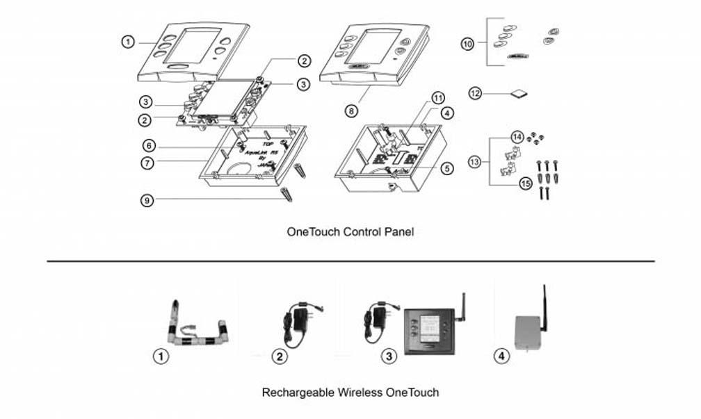 Jandy OneTouch Control Panel Parts