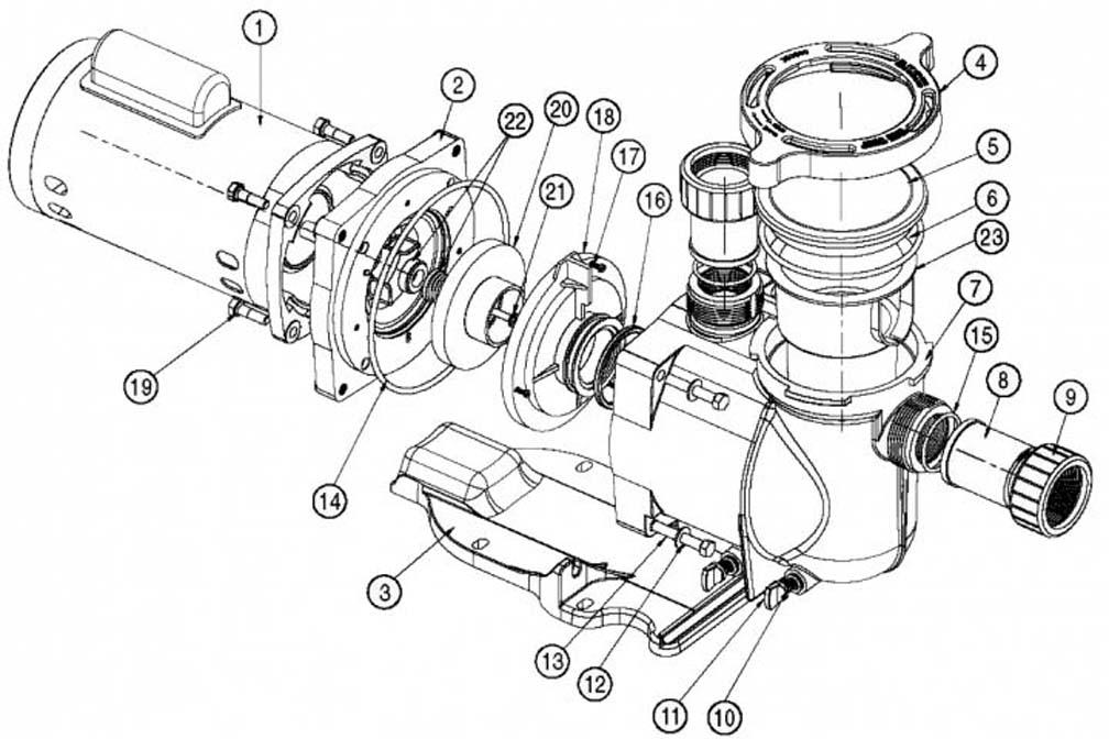 Pentair SuperFlo Pump Parts
