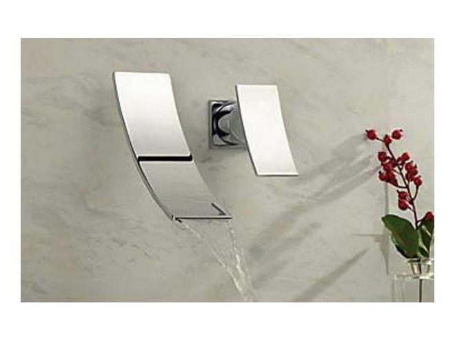 robinet mural de salle de bain a effet
