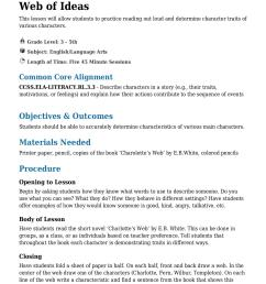 Web of Ideas Grade 3 - 5th - Lesson Tutor [ 1754 x 1240 Pixel ]