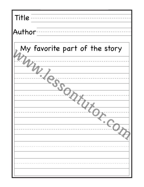 small resolution of Book Report Worksheet 1st Grade - 12 - Lesson Tutor