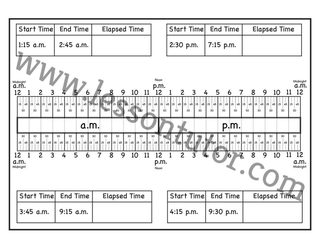hight resolution of Calculate Elapsed Time Worksheet Second Grade - Lesson Tutor