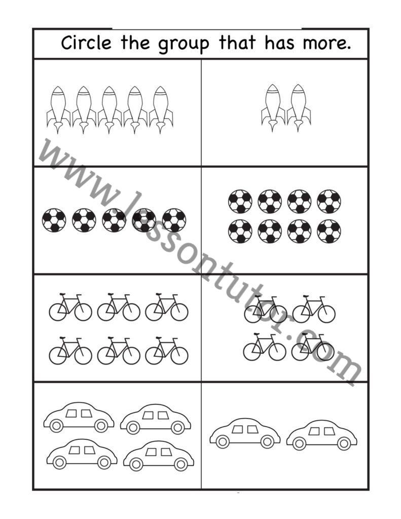 medium resolution of Comparison Worksheet First Grade - Lesson Tutor