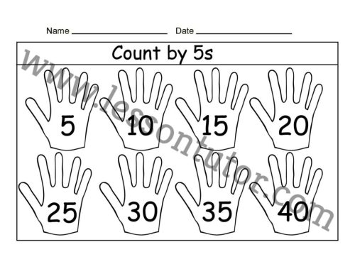 small resolution of Count by 5s – Three Worksheet First Grade - Lesson Tutor