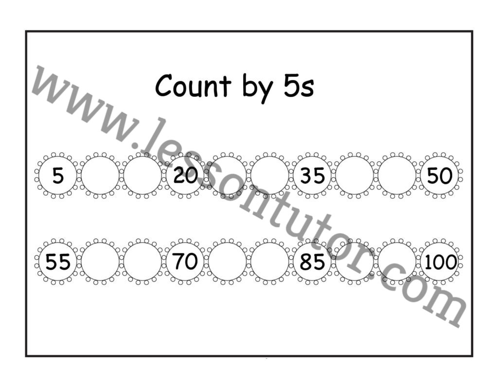 Count By 5s Worksheet Second Grade