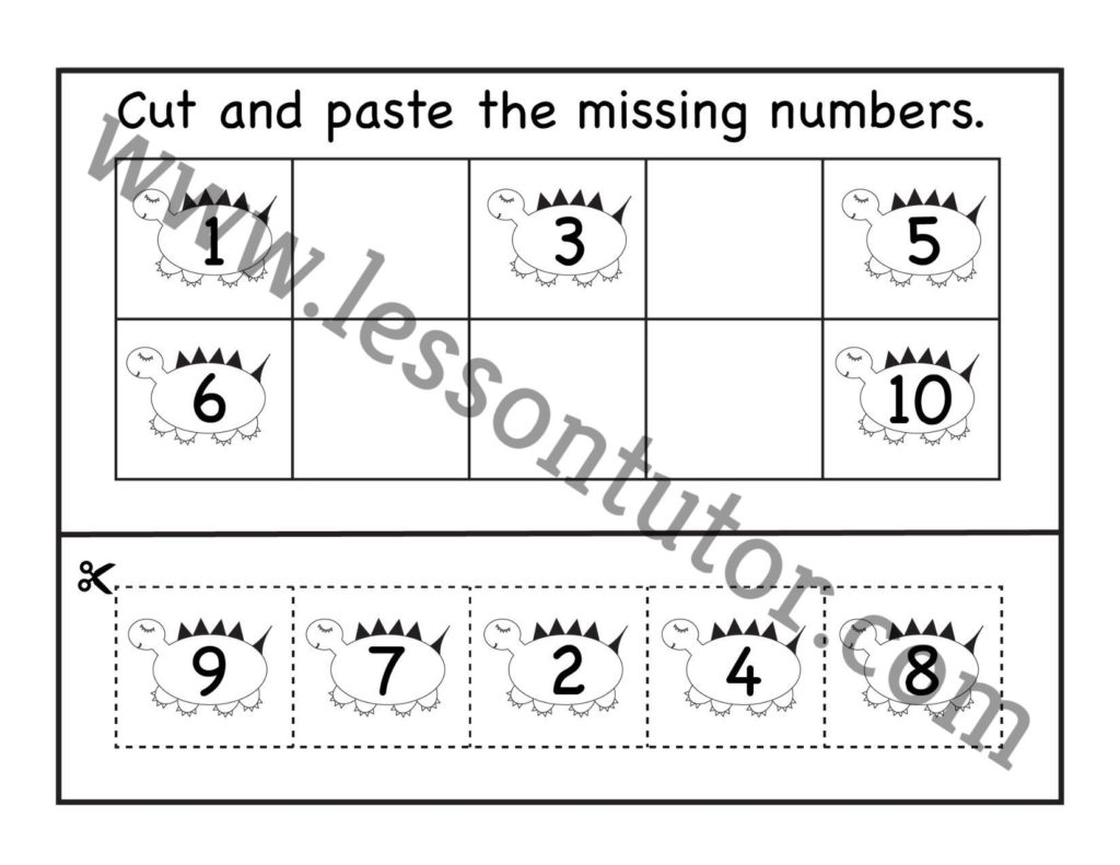 Count Cut And Paste Worksheet Kindergarten