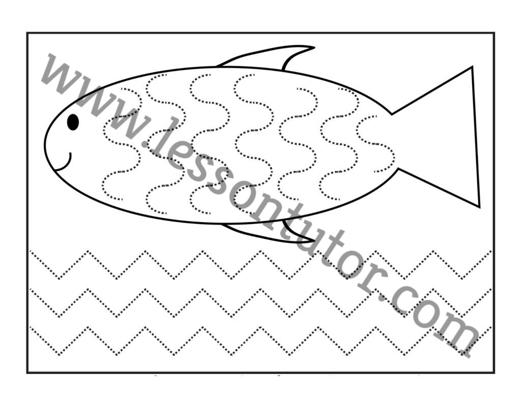 Curved And Zig Zag Line Tracing Worksheet Preschool