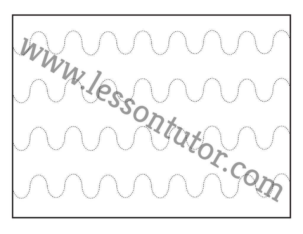 Curved Line Tracing Worksheet Preschool 8