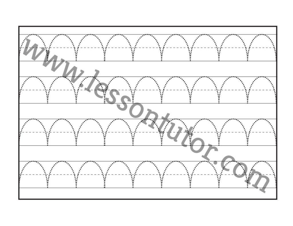 Curved Line Tracing Worksheets Kindergarten