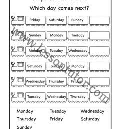 Days of the Week Worksheet First Grade - Lesson Tutor [ 1024 x 791 Pixel ]