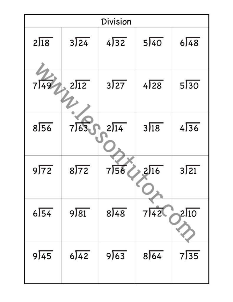 hight resolution of Division Worksheets Worksheet Third Grade - Lesson Tutor