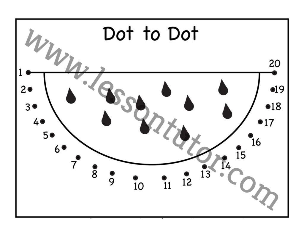 Dot To Dot Numbers Worksheet Kindergarten 2