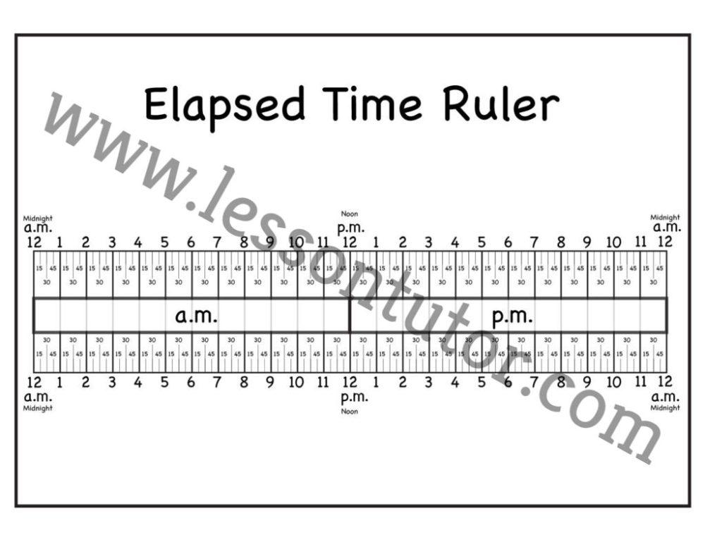 medium resolution of Time Worksheets - Lesson Tutor