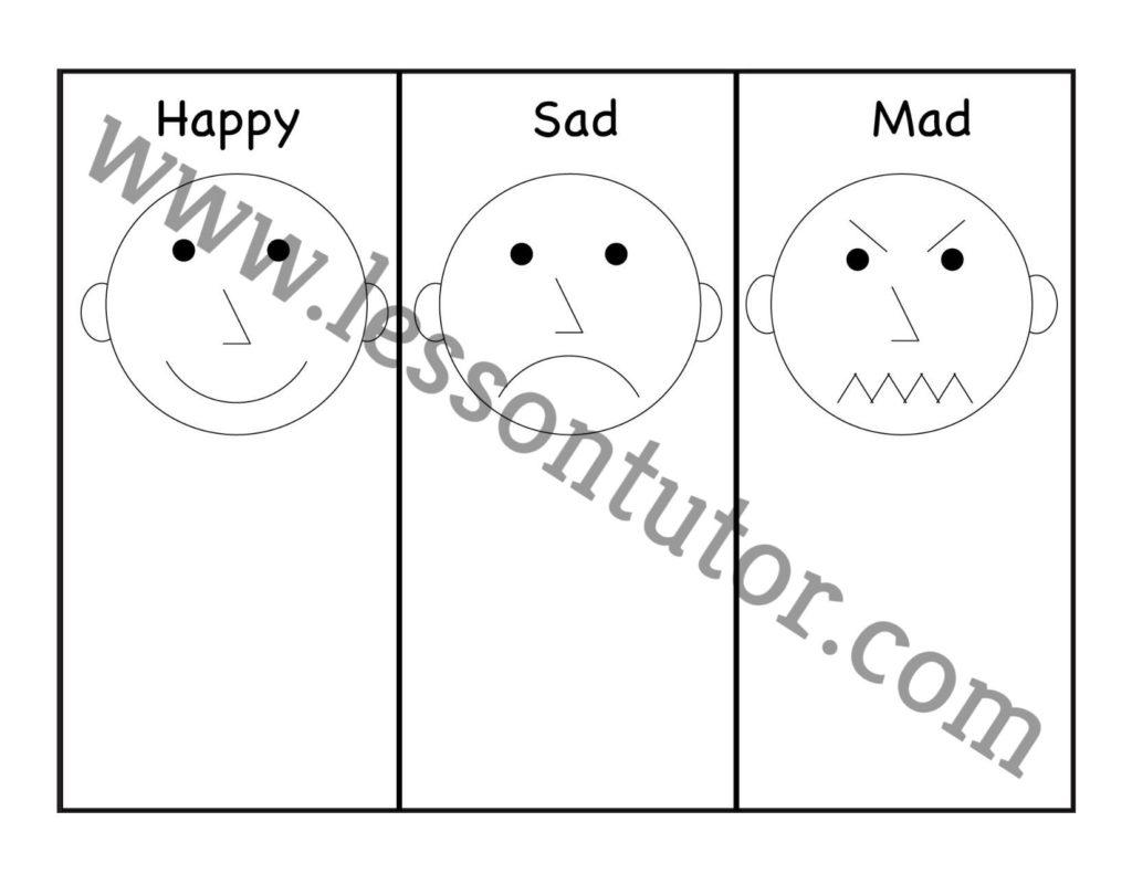 Emotions Amp Feelings Happy Sad And Mad Preschool