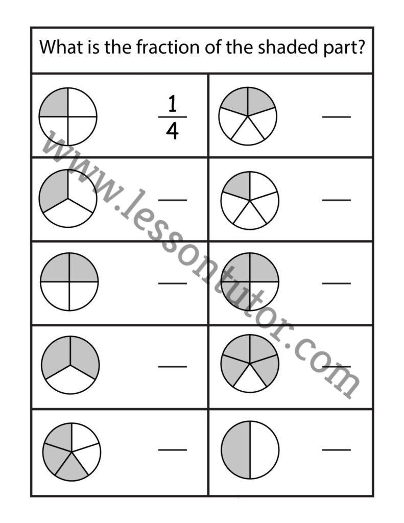 medium resolution of Fractions Worksheet Second Grade - Lesson Tutor