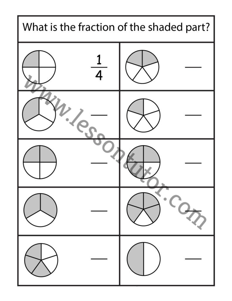 hight resolution of Fractions Worksheet Second Grade - Lesson Tutor