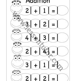 Kindergarten Addition Worksheets Kindergarten 4 - Lesson Tutor [ 1024 x 791 Pixel ]