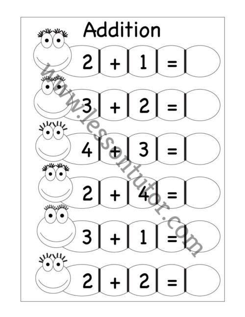 small resolution of Kindergarten Addition Worksheets Kindergarten 4 - Lesson Tutor