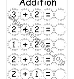 Kindergarten Addition Worksheets Kindergarten - Lesson Tutor [ 1024 x 791 Pixel ]