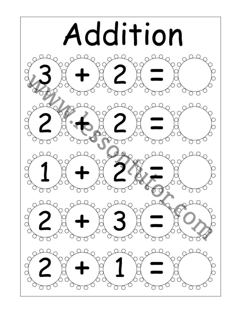 medium resolution of Kindergarten Addition Worksheets Kindergarten - Lesson Tutor
