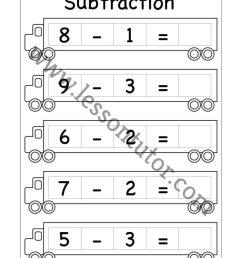 Kindergarten Subtraction Worksheets Kindergarten 3 - Lesson Tutor [ 1024 x 791 Pixel ]