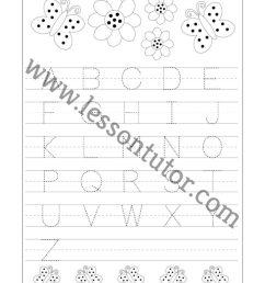 Letter Tracing – Capital Letters -Fruit Theme Worksheet Preschool - Lesson  Tutor [ 1024 x 791 Pixel ]