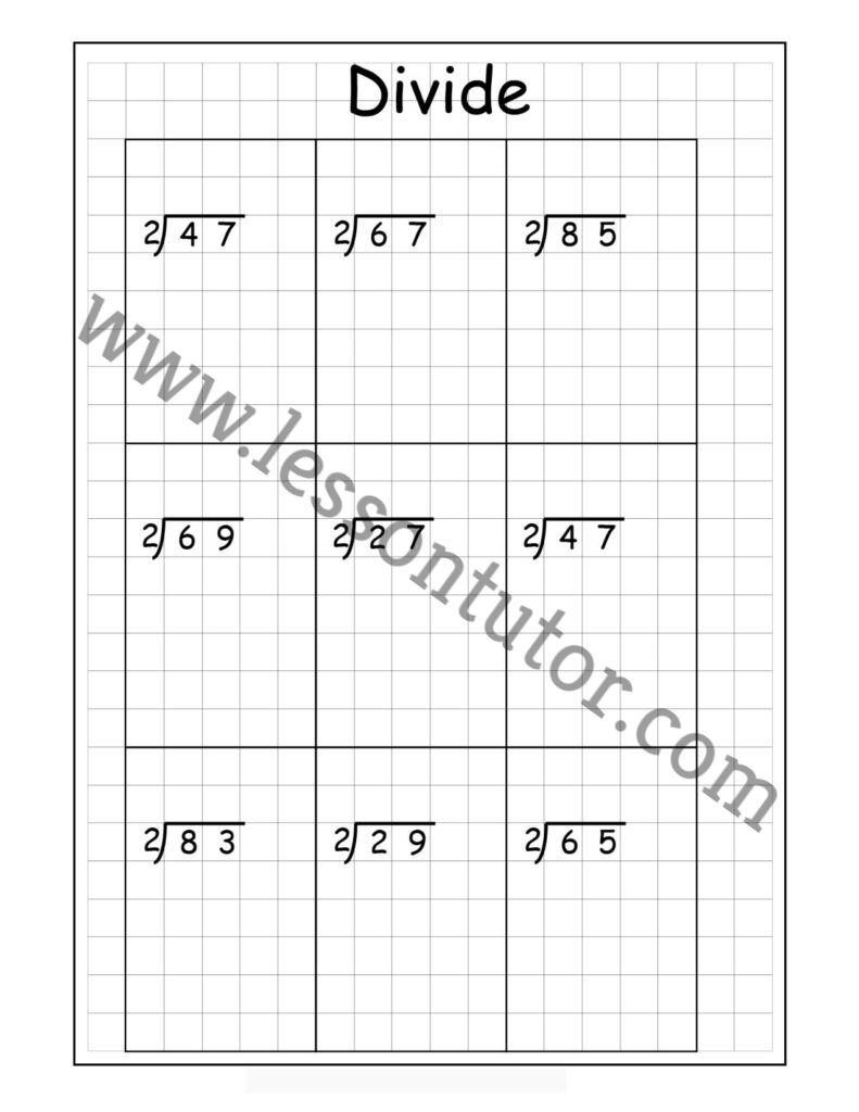 medium resolution of Long Division – 2 Digits By 1 Digit – With Remainders Worksheet Fourth Grade  - Lesson Tutor