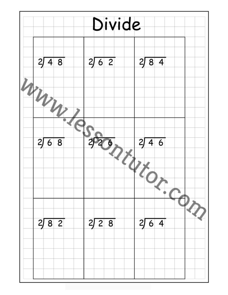 hight resolution of Long Division – 2 Digits By 1 Digit – Without Remainders Worksheet Fourth  Grade - Lesson Tutor